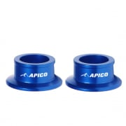 Apico Aluminium Wheel Spacers - Rear Yamaha Blue