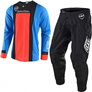 Troy Lee Designs SE Air Kit Combo - Squadra Cyan Orange Black