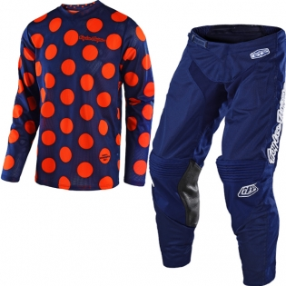 Troy Lee Designs GP Air Kit Combo - Polka Dot Navy