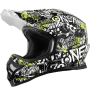 2018 ONeal 3 Series Motocross Helmet - Attack Black Hi Viz