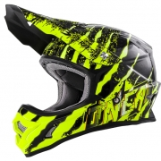 2018 ONeal 3 Series Motocross Helmet - Mercury Black Neon Yellow