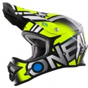 2018 ONeal 3 Series Motocross Helmet - Radium Neon Yellow Grey