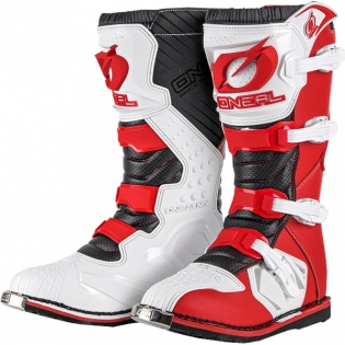2018 ONeal Rider Boots - Red White