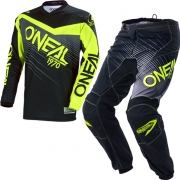 2018 ONeal Element Racewear Kit Combo - Black Neon Yellow