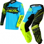 2018 ONeal Element Kit Combo - Burnout Black Blue Hi Viz