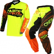 2018 ONeal Element Kit Combo - Burnout Black Orange Hi Viz