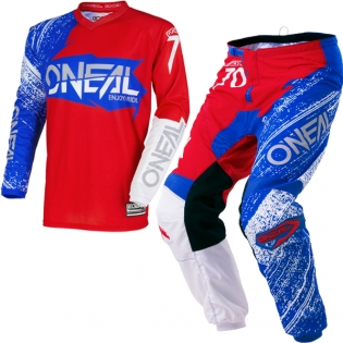 2018 ONeal Element Kit Combo - Burnout Red White Blue