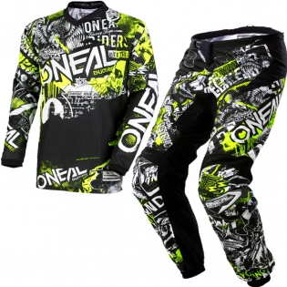 2018 ONeal Element Kit Combo - Attack Black Hi Viz