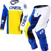 2018 ONeal Mayhem Lite Kit Combo - Split Blue Yellow