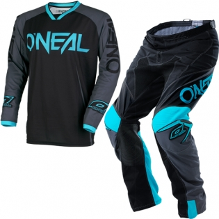 2018 ONeal Mayhem Lite Kit Combo - Blocker Black Grey Teal
