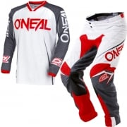 2018 ONeal Mayhem Lite Kit Combo - Blocker White Grey