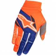 2018 Alpinestars Aviator Gloves - Flo Orange Dark Blue