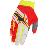 2018 Alpinestars Aviator Gloves - Red White Flo Yellow