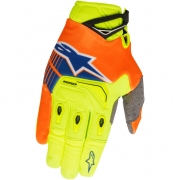 2018 Alpinestars Techstar Gloves - Yellow Flo Orange Blue