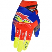 2018 Alpinestars Techstar Gloves - Blue Red Flo Yellow