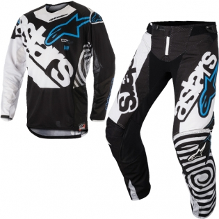 2018 Alpinestars Techstar Kit Combo - Venom Black White Aqua