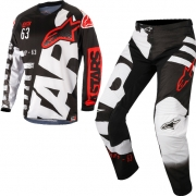 2018 Alpinestars Racer Kit Combo - Braap Black White Red