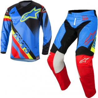2018 Alpinestars Racer Kit Combo - Supermatic Aqua Black Red