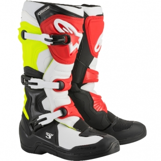 Alpinestars Tech 3 Boots - Black Flo Yellow Red