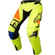 2018 Alpinestars Techstar Pants - Factory Flo Yellow Blue Blk