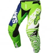 2018 Alpinestars Techstar Pants - Venom Flo Green Wht Blue