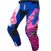 2018 Alpinestars Techstar Pants - Venom Flo Pink Blue White