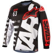 2018 Alpinestars Racer Jersey - Braap Black White Red