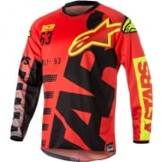 2018 Alpinestars Racer Jersey - Braap Red Black Flo Yellow