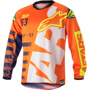 2018 Alpinestars Racer Jersey - Braap Flo Orange Blue White
