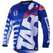 2018 Alpinestars Racer Jersey - Braap Blue White Red