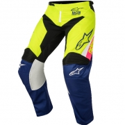 2018 Alpinestars Racer Pants - Supermatic White Blue Flo Yellow