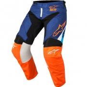 2018 Alpinestars Racer Pants - Supermatic Blue Flo Orange Aqua