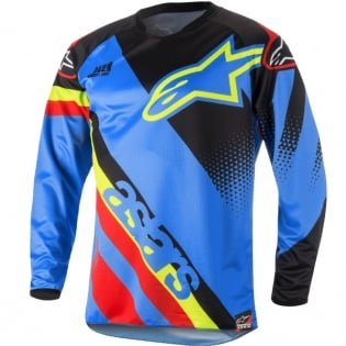 2018 Alpinestars Racer Jersey - Supermatic Aqua Black Red