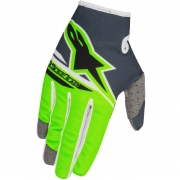 2018 Alpinestars Kids Radar Flight Gloves - Anthracite Green Flo