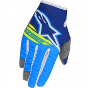 2018 Alpinestars Kids Radar Flight Gloves - Blue Aqua Flo Yellow