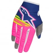 2018 Alpinestars Kids Radar Flight Gloves - Dark Blue Flo Pink White