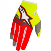 2018 Alpinestars Kids Radar Flight Gloves - Flo Yellow Red Anthracite