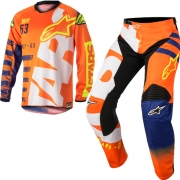 2018 Alpinestars Kids Racer Braap Kit Combo - Flo Orange Blue White