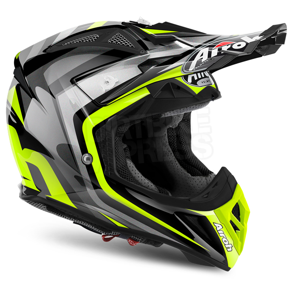 2018 airoh aviator 2 2 helmet warning yellow dirtbikexpress. Black Bedroom Furniture Sets. Home Design Ideas