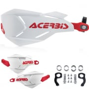 Acerbis X-Factory Handguards - White Red