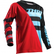 2018 Thor Fuse Air Jersey - Rive Red Blue