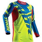 2018 Thor Prime Fit Jersey - Paradigm Lime Blue Red