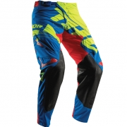 2018 Thor Prime Fit Pants - Paradigm Lime Blue Red