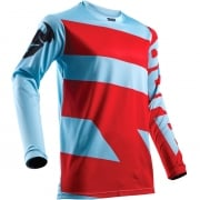 2018 Thor Pulse Jersey - Level Powder Blue Red