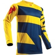 2018 Thor Pulse Jersey - Level Navy Yellow