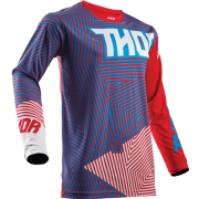 2018 Thor Pulse Jersey - Geotec Red Blue