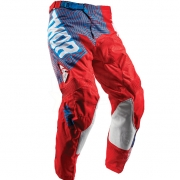 2018 Thor Kids Pulse Pants - Geotec Red Blue