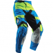 2018 Thor Kids Pulse Pants - Level Electric Blue Lime