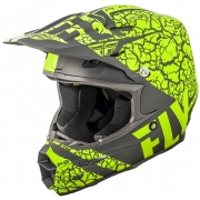 2018 Fly Racing F2 Carbon Helmet - Fracture Matte Grey Hi Viz