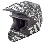 2018 Fly Racing F2 Carbon Helmet - Fracture Matte Black White